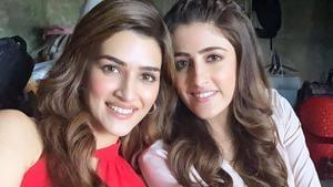 Kriti Sanon with her sister Nupur Sanon.