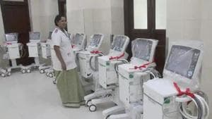 The ventilator named 'Prana-Vayu' has been developed in collaboration with AIIMS, Rishikesh.(HT file)