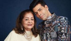 Karan Johar's mom Hiroo wants him to 'reinvent' himself, he says 'assault on my fashion continues'. Watch
