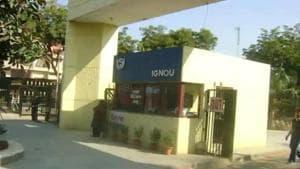 Indira Gandhi National Open University. (HT file)