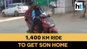 Watch: 50-year-old woman takes 1,400 km scooty ride to bring her son back home