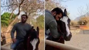 Salman Khan shared a video with his horse in his farmhouse.