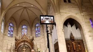 Meanwhile, with more than 90% of the country under stay-at-home orders, the holiest weekend on the Christian calendar began with services livestreamed or broadcast to congregants watching from home.
