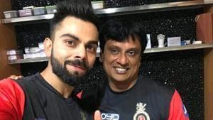 Virat Kohli with Shanker Basu.(Twitter)