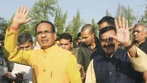 Madhya Pradesh Chief Minister Shivraj Singh Chouhan attacked his predecessor Kamal Nath, claiming he did nothing to fight spread of coronavirus disease Covid-19.(PTI Photo)