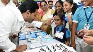 Jagan claimed in the assembly that introducing English medium at the primary level was a revolutionary step in moulding students for the future. (ANI file photo)