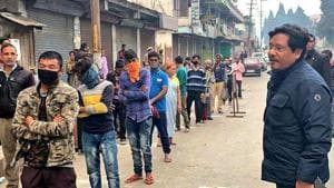 Meghalaya Chief Minister Conrad Sangma appealing to the citizens to maintain social distancing during nationwide lockdown amid the coronavirus pandemic in Shillong.(ANI)
