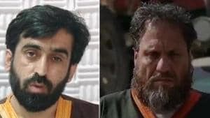 Islamic State of Khorasan Province's Munib Mohammad (Left) was coordinating the group's activities with Pakistan's ISI and other terror groups such as LeT and Haqqani network(Screengrab/Afghan NDS)