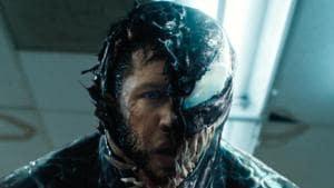 Tom Hardy in a still from Venom.