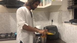 Vijay Deverakonda shared his video of doing housework.