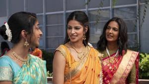 Never Have I Ever review: Maitreyi Ramakrishnan, Poorna Jagannathan and Richa Moorjani in a still from Mindy Kaling's new Netflix show.