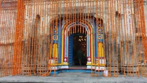 The doors of Kedarnath temple in Uttarakhand opened on April 29 after the winter break but devotees won't be allowed 'darshan' due to Covid-19 outbreak.(Photo Credit: Trivendra Singh Rawat / Twitter)
