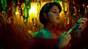 Mrs Serial Killer movie review: Jacqueline Fernandez in a still from the new Netflix India film.