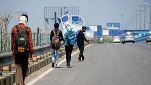 Migrant workers have been walking across states to reach their hometowns and villages in the absence of any form of transport during the nationwide lockdown.