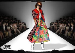 A sketch by designer Salita Nanda reflecting a virtual runway.