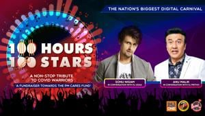 """<p>""""Donate towards #PMCARES fund by clicking on the link: https://m.p-y.tm/FFM-PMCARES</p><p>This musical hour will bring you closer to our two favorite artists Sonu Nigam and Anu Malik with our RJs Adaa & Prithvi Disclaimer:</p><p>Fever FM, Radio Nasha & Radio One do not take any responsibility for the successful operation, uptime, and consummation of the payment process, which is being run by Paytm and linked directly to the PM Cares Fund collection window/portal. The role of Fever FM, Radio Nasha & Radio One is to encourage donations</p><p>#100Hours100Stars""""</p>"""