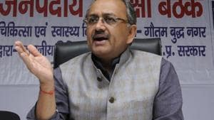 """UP minister Sidharth Nath Singh said, """"our migrant labourers are coming back from other states, so we need to create more jobs.""""(Sunil Ghosh/HT File Photo)"""