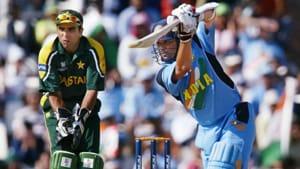 File image of Sachin Tendulkar batting against Pakistan.(AFP)
