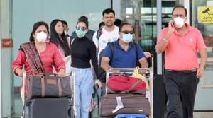 Among the five who returned to Chandigarh, were four students from Singapore and a doctor from PGIMER who was on a sabbatical in Dhaka.(HT photo)