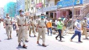 The incident happened at Borrollagudem village of Choutuppal block on Hyderabad-Vijayawada national highway (NH-65). (Photo @hydcitypolice)