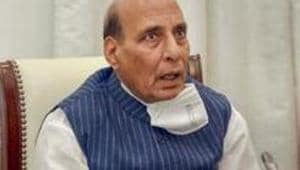The oceans are the lifelines of global prosperity, Rajnath Singh said at the ceremony.(PTI)