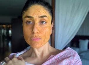 "Actor Kareena Kapoor Khan recently posted a video and captioned, ""Summer essentials: Messy bun, Kaftan and homemade mask"".(Photo: Instagram/kareenakapoorkhan)"