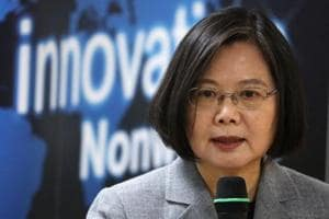 Taiwanese president Tsai Ing-Wen is seen in this file photo. Tsai said on Sunday that there was no plan for her talk by telephone with new Japanese Prime Minister Yoshihide Suga, after a Japanese envoy had told Tsai that Suga might be open to it, prompting concern in Beijing.(Reuters Photo)