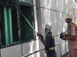 The police said that a security guard reported the fire.(ANi)