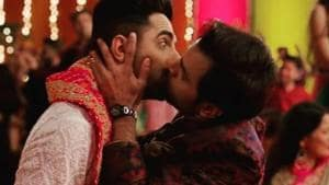 Smooch: Contrary to popular belief, this kiss is not the first ever expression of sexual intimacy between two gay men in a Hindi film.(Ayushmann Khurrana and Jitendra Kumar in Shubh Mangal Zyada Saavdhan)