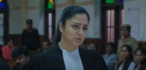 Jyotika in a still from Ponmagal Vandhal.