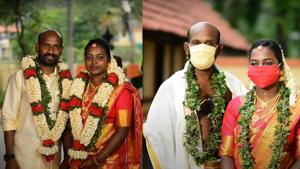 Malayalam actor Gokulan gets married to long-time girlfriend Dhanya in lockdown, poses for wedding pic with mask on