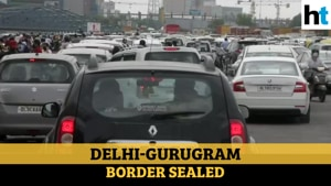 Watch: Chaos on the roads as Haryana seals border with Delhi again