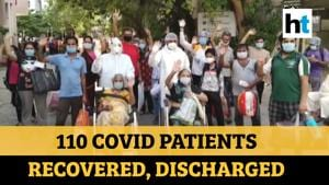 Watch: Indore hospital showers petals on covid-19 patients after recovery