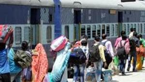 The railways had come under criticism over the delay and diversion of several Shramik Trains in the last week. A Gorakhpur-bound Shramik Special train from Maharashtra ended up in Rourkela, Odisha adding two days and five states to the original journey, leaving its passengers clueless.(HT PHOTO.)