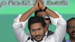 A year ago YS Jaganmohan Reddy had taken oath of office in a swearing-in ceremony at the Indira Gandhi Municipal Stadium in Vijayawada.(PTI Photo/File)