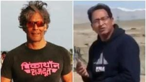 Milind Soman was responding to a call given by pioneering Ladakh engineer Sonam Wangchuk.