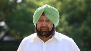 Punjab Chief minister Captain Amarinder Singh during an Interview at his residence in Chandigarh. Sanjeev Sharma/HT PHoto