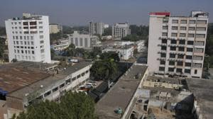 A view of Industrial Area, phase 2, Chandigarh.(HT Photo)