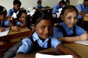 A total of 35,000 seats of the Right to Education (RTE) have remained vacant in the state this year.(HT PHOTO)
