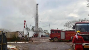 Uncontrollable gas flow is continuing from the gas well, according a press statement issued by Oil India Limited on Monday.(AFP Photo)