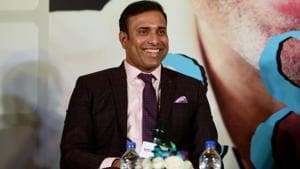 Former Indian Cricketer VVS Laxman during the book launch of