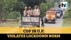 UP cop leads cavalcade of vehicles, suspended for violating lockdown norms