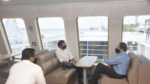 Thackeray will reach Alibag via Mandwa jetty around noon and interact with the villagers in some of the Nisarga-hit villages.(HT Photos/Maharashtra CMO)