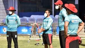 Afghanistan cricketers train wearing masks(Image Courtesy: ACB)