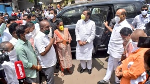 Pawar tweeted that he had begun his tour of coastal Konkan region to review the cyclone damage.(Photo: Clyde_Crasto/ Twitter)