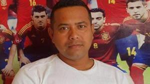 Former footballer Durlov Gogoi.(Facebook)