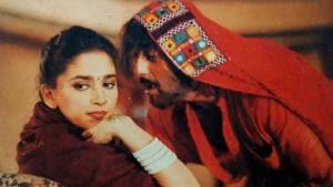 Madhuri Dixit and Sanjay Dutt in a still from Khal Nayak.
