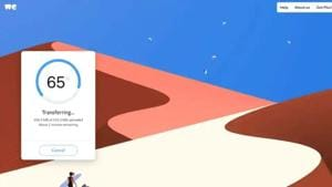 WeTransfer lets users share files of up to 2GB at once.(Photo: WeTransfer)