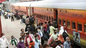 Of the total, a maximum of 32 trains will depart from Kerala while the destinations of most trains will be West Bengal (23), the railways said. (Photo Santosh Kumar/ Hindustan Times)
