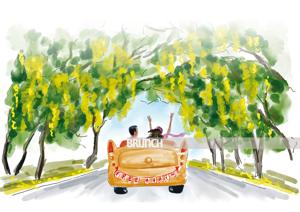 Drive down Delhi's Amrita Shergill Marg to see the amaltas flowering in all their glory(Illustration: Aparna Ram)